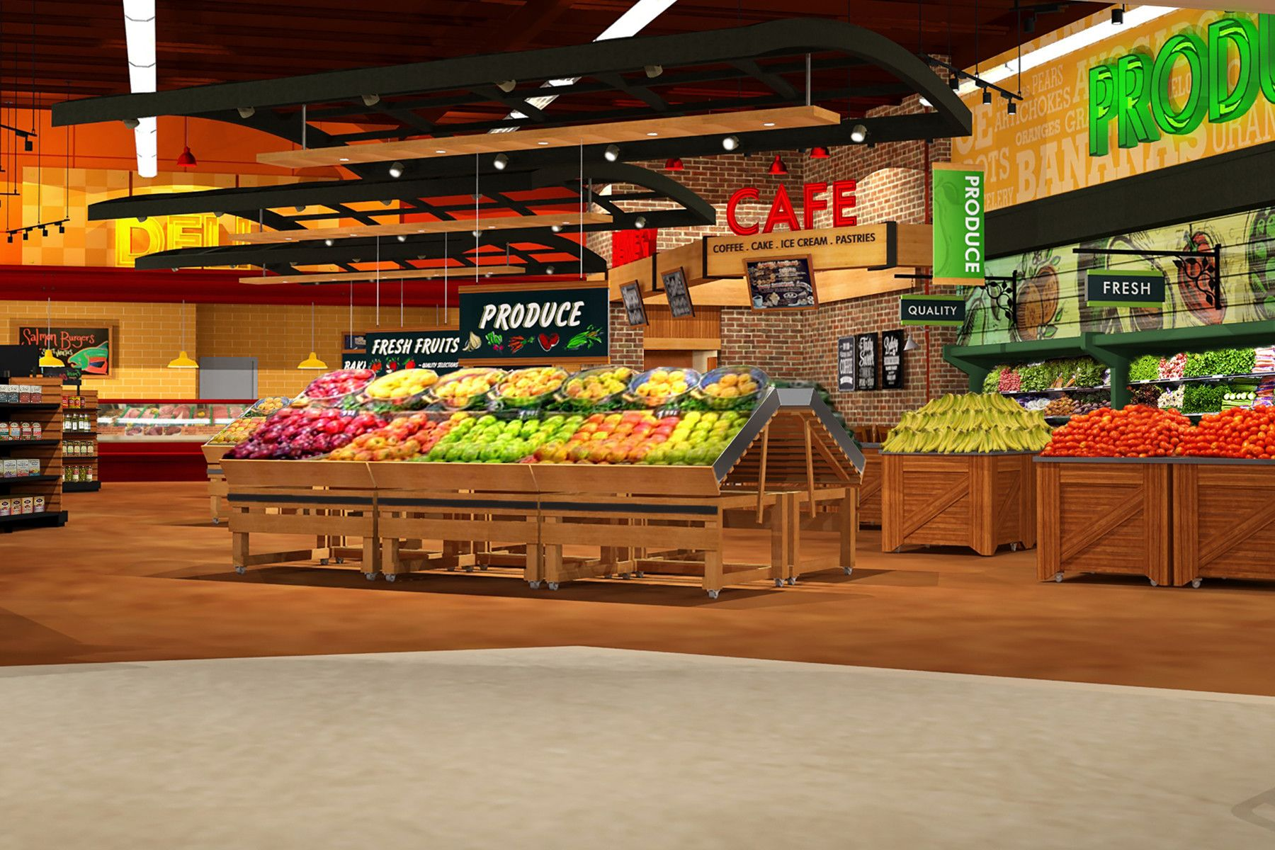 Maxi Foods With Images Supermarket Design Grocery Store