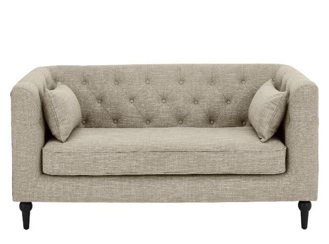 Flynn 2 Seater Sofa Taupe Linen Mix 2 Seater Sofa Sofa