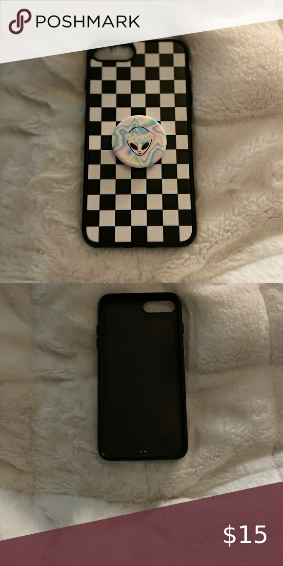iPhone 8plus case with pop socket in 2020 Popsockets
