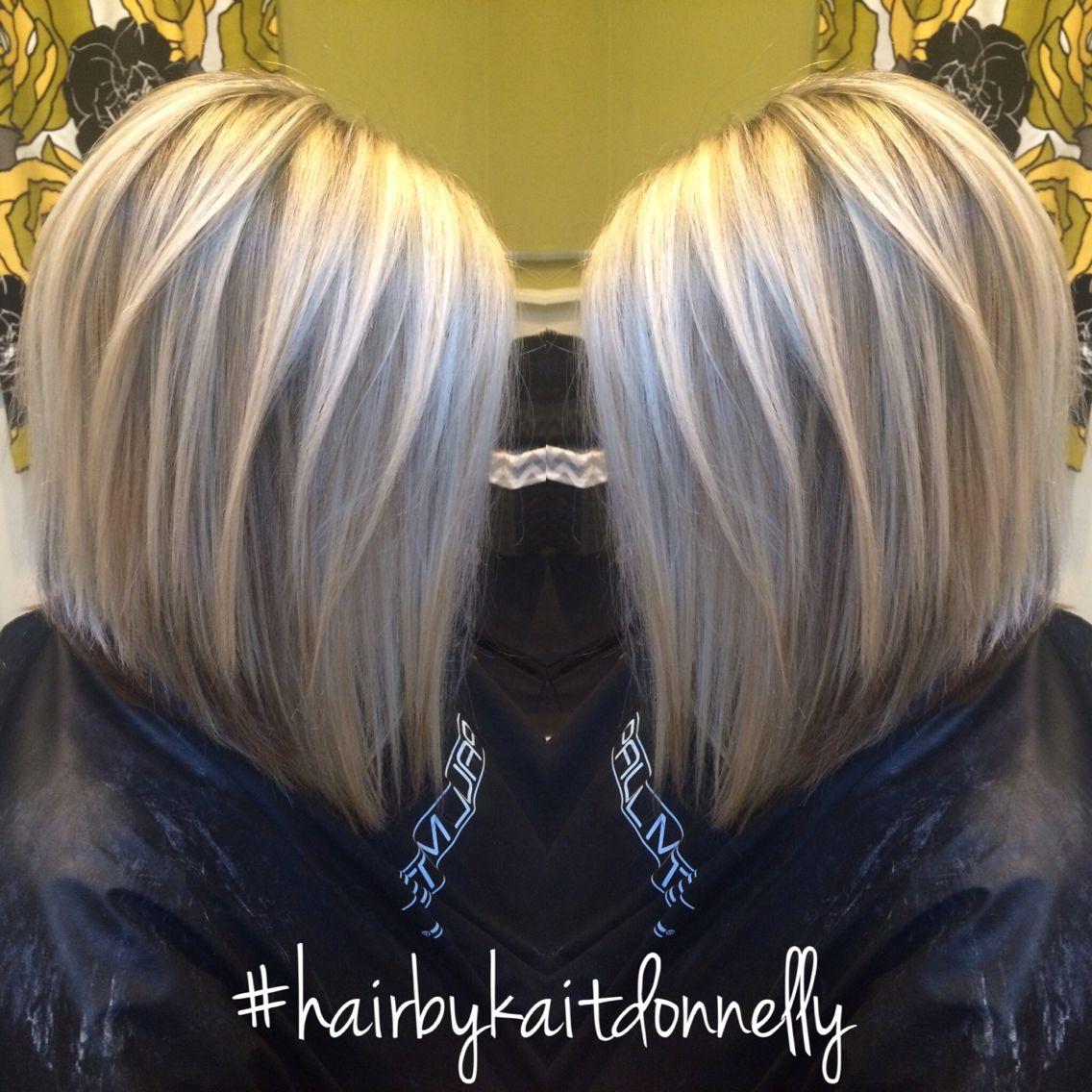 Platinum Cool Blonde Long A Line Bob Hairbykaitdonnelly Longbob