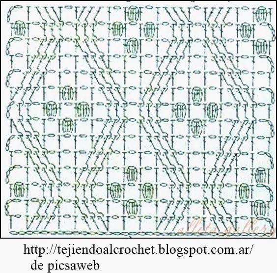 PATRONES - CROCHET - GANCHILLO - GRAFICOS: PUNTOS PARA TEJER A ...