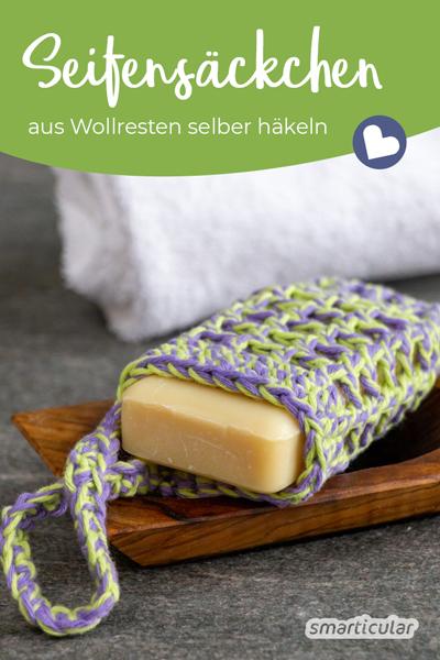 Photo of Häkeln Sie Seifensäcke: die Grundausstattung für ein Bad ohne Abfall
