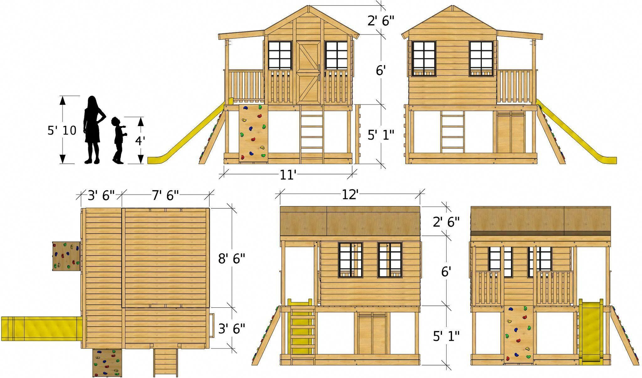 Make your own house plans online for free  Elevated playhouse plan dimensions buildaplayhouse