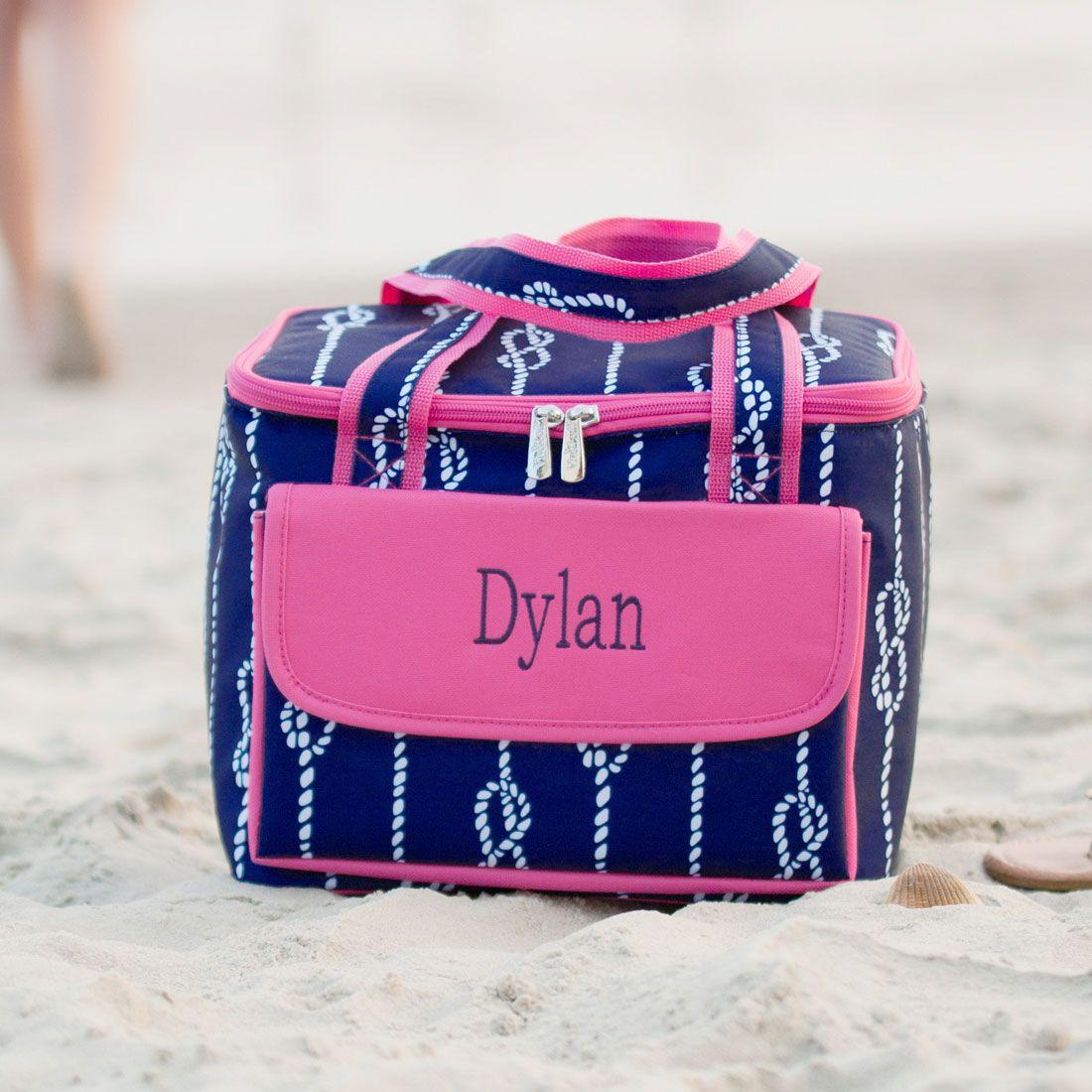 High Tide Monogrammed Cosmetic Bag Cooler tote bag