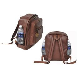 Brown leather backpack $51.29