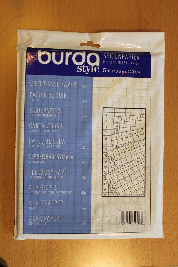 Pattern Paper Tissue Paper 5 x 150cm x 110cm Burda Style