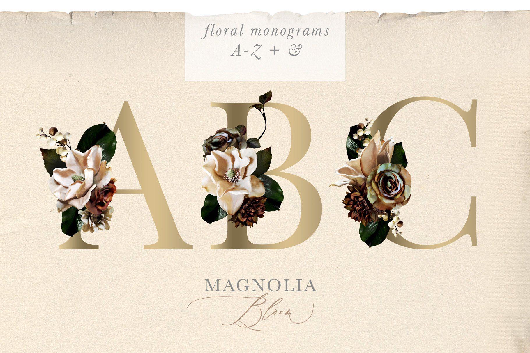 Magnolia Bloom Flowers Monograms Creative Graphic Design Graphic Design Photoshop Graphic Design Studios