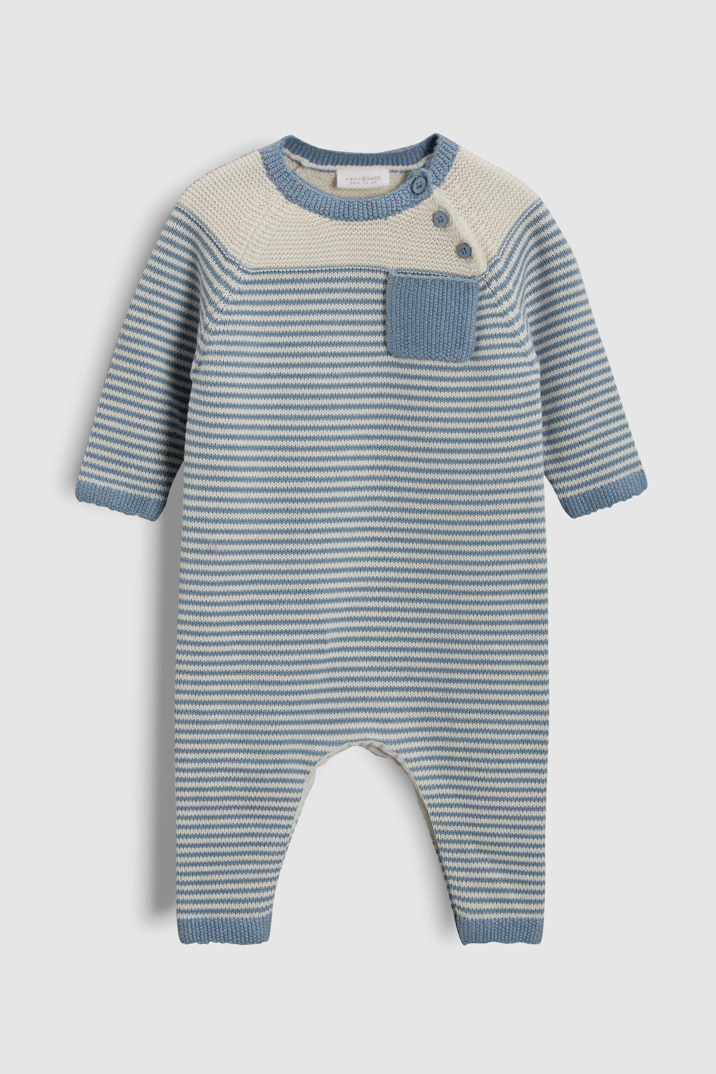 BLUES BABY Boys Rib 2PC Knitted Set Short Sleeve Cotton Cable Knitted Sweater Shirt with Shorts