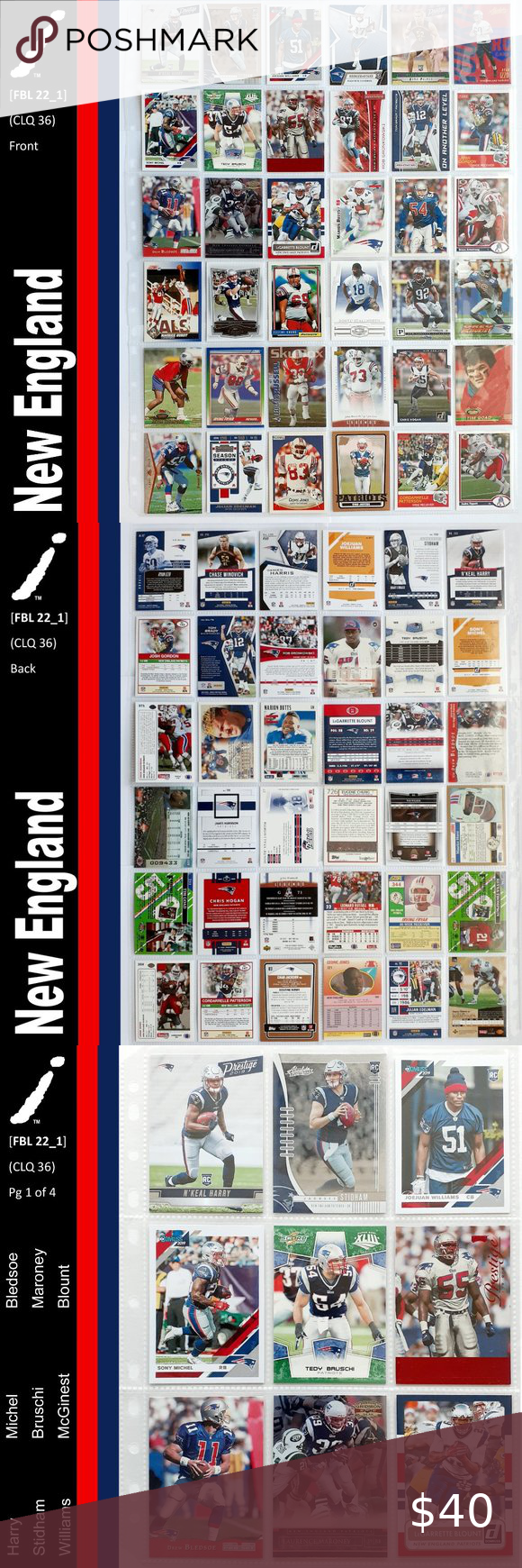 New England Patriots 36 Player Card Lot Fbl13 1 In 2020 Player Card New England Patriots Patriots
