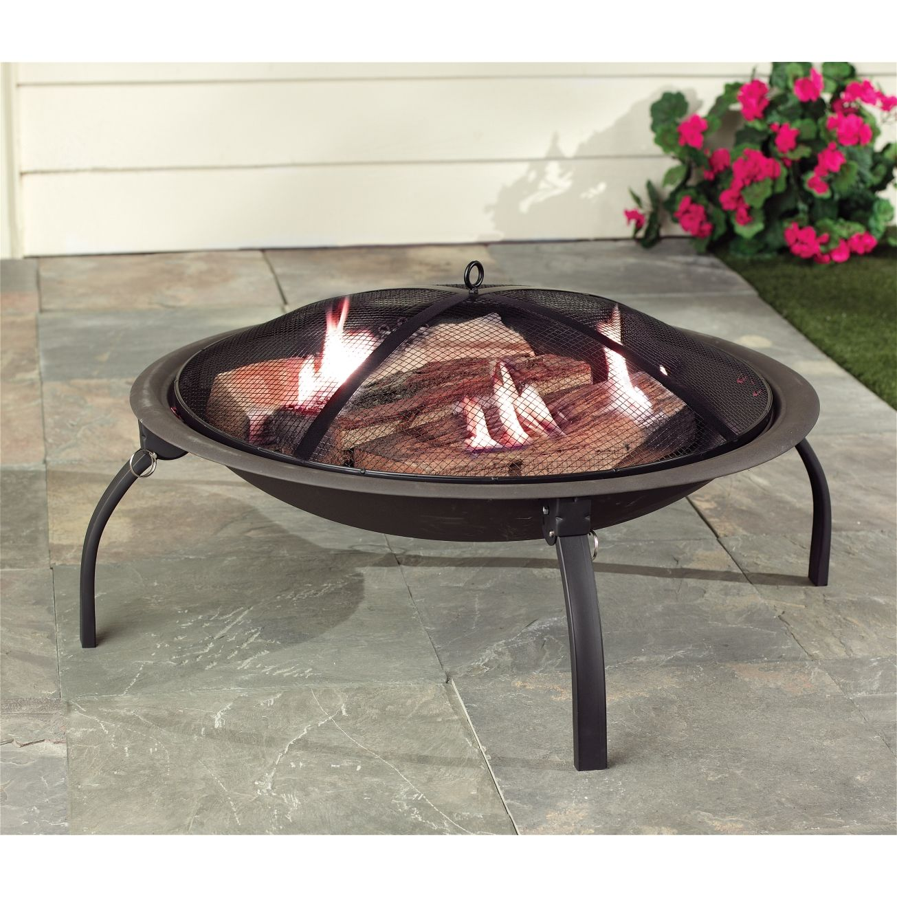 Living Accents® 28in Portable Firepit - Outdoor Fireplaces ... on Propane Fire Pit Ace Hardware id=35580