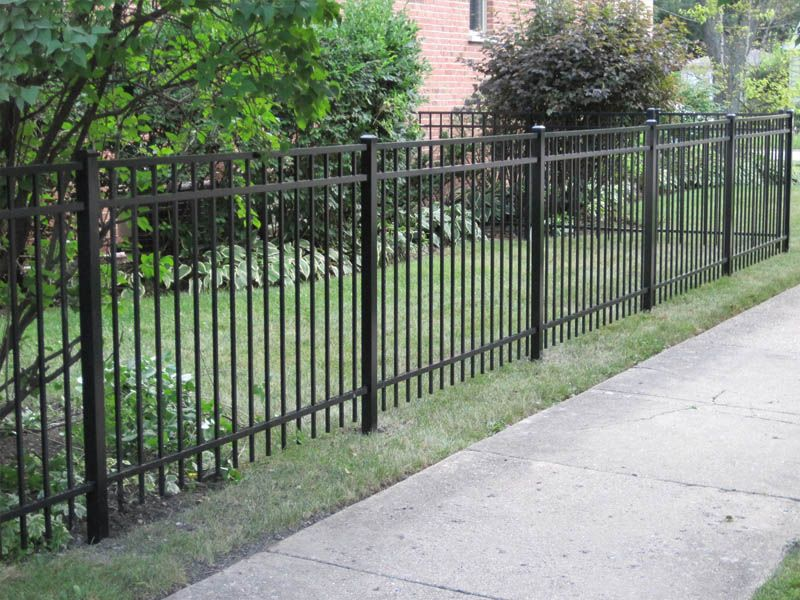 Aluminum fences ornamental steel fencing in chicagoland