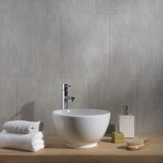 Swish Marbrex Moonstone Large Tile Effect Pvc Bathroom Cladding Shower Wall Panels W375mm X H2600mm Pack Of 3 Wet 8mm Thick