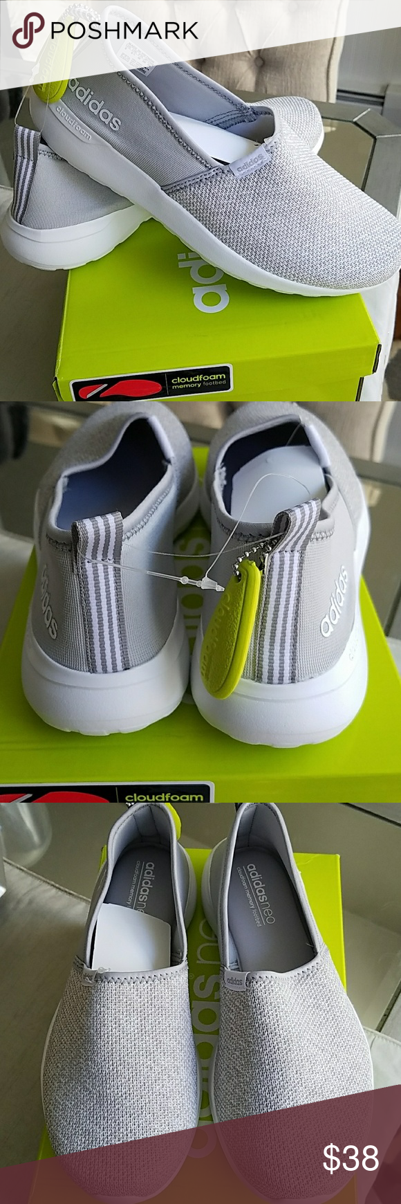 Adidas neo cloudfoam Racer Kit escape Slip - on zapatos adidas neo cloudfoam Racer