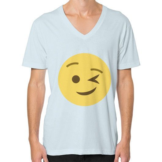 Winking Emoji V-Neck for Men