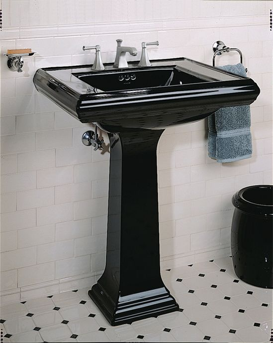 Attrayant Be Perfect Be Pedestal Sinks: Black Pedestal Sinks