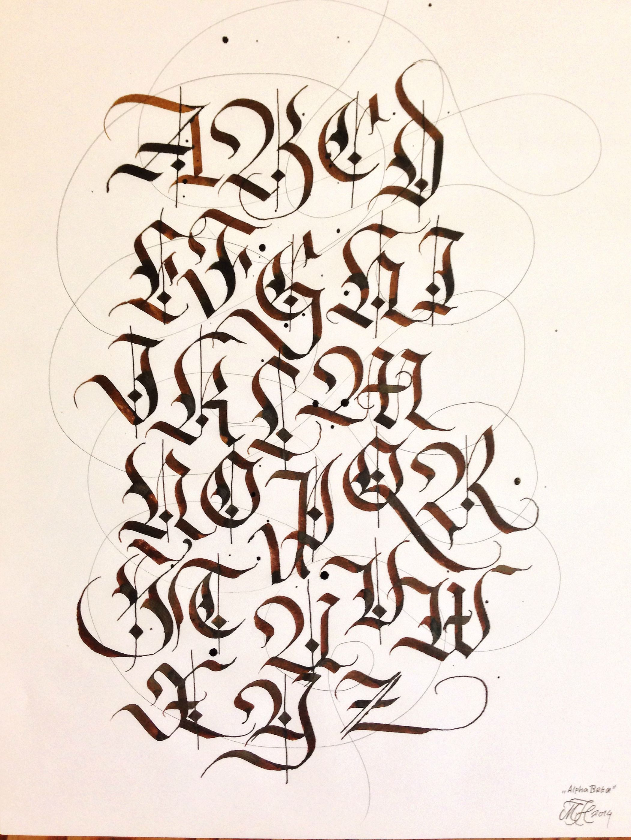 Warmed Up By Writing The Alphabet In Fraktur