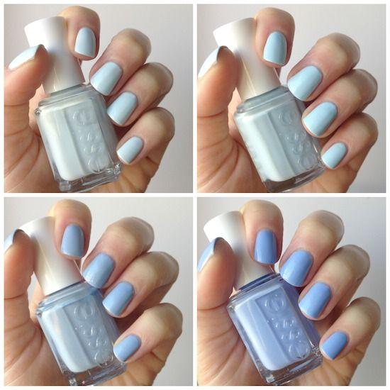 Essie Pale Blue Comparison : Find Me An Oasis, Borrowed