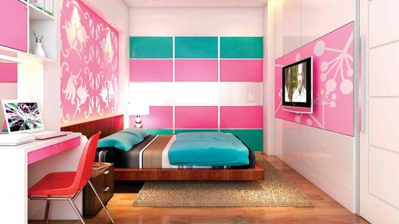 jugendzimmerm bel m dchen t rkis und pink kombinieren. Black Bedroom Furniture Sets. Home Design Ideas
