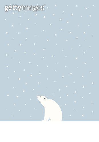 winter polar bear vector illustration by. Black Bedroom Furniture Sets. Home Design Ideas