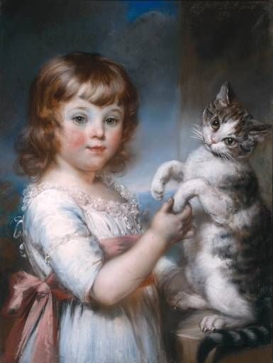 John Russell, boy and a cat, 1791