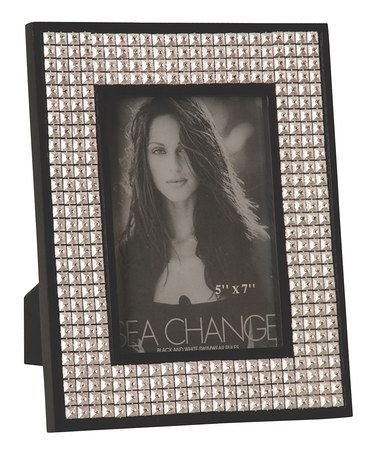 Black & Silver Bedazzled 5\'\' x 7\'\' Picture Frame by Picture Perfect ...