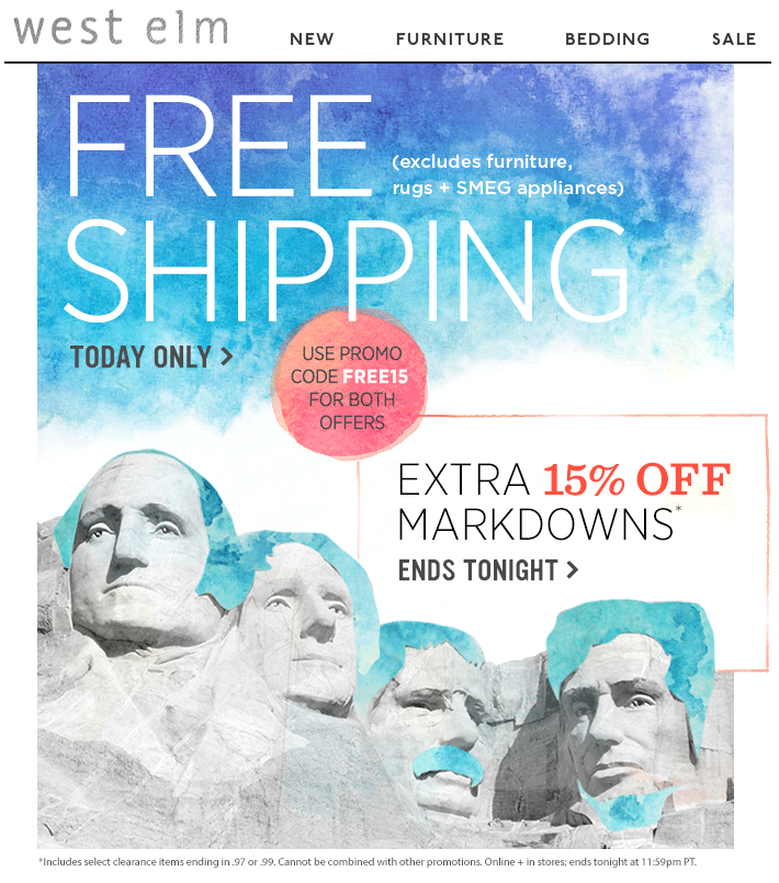 West elm free shipping email with altered mt rushmore ct for west elm free shipping email with altered mt rushmore ct for presidents day fandeluxe Gallery
