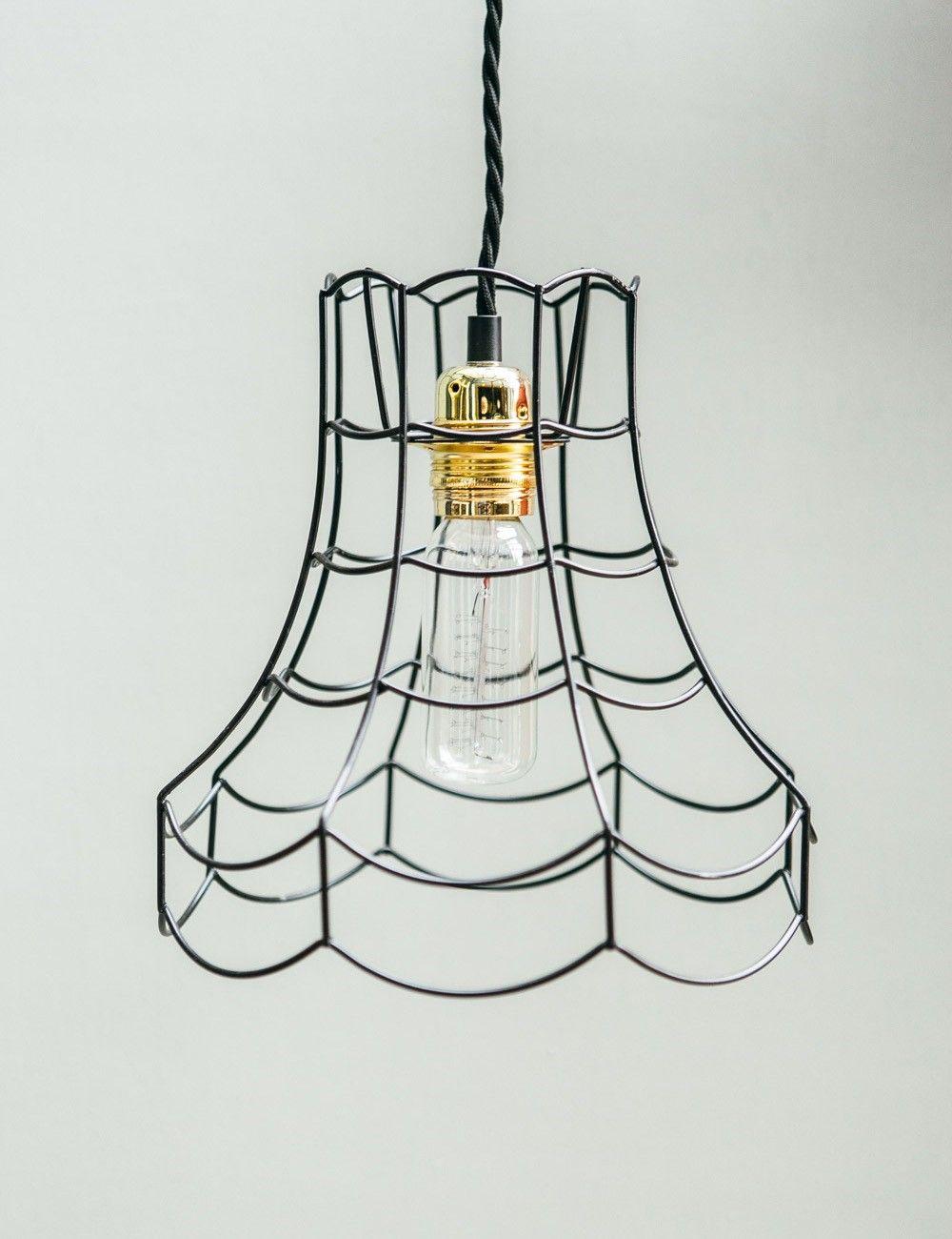 834fcc0320dd Vintage Wire Lamp Shade