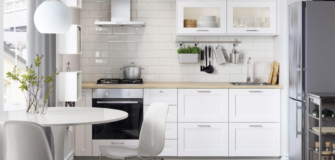 Küchenzeilen weiß  Ikea Küchenzeile Modern Weiss Wohnküche | Küchenzeilen | Pinterest ...