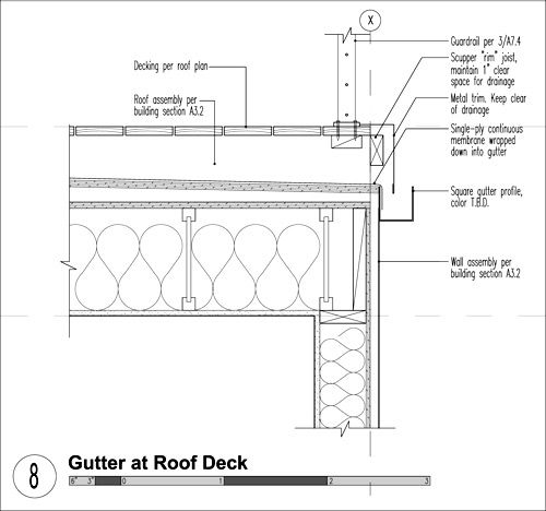 10 things you should know about roofing balconies roof for Flat roof plan drawing