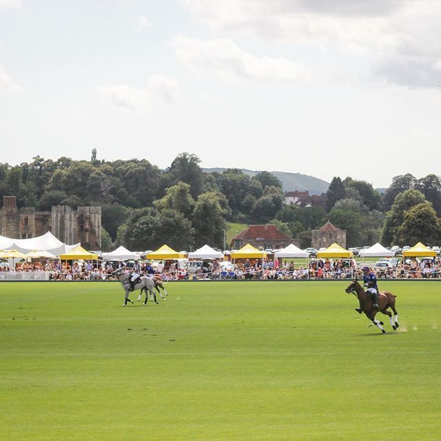 FACT: if more sports were played in front of castles and involved furry animals we'd probably care more about sports. lots of pics from @_theromantic's day at the polo now on the bloggy!