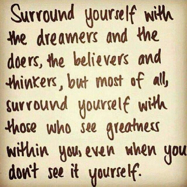 Surround yourself | Quotes & Sayings | Pinterest | Life thoughts and ...