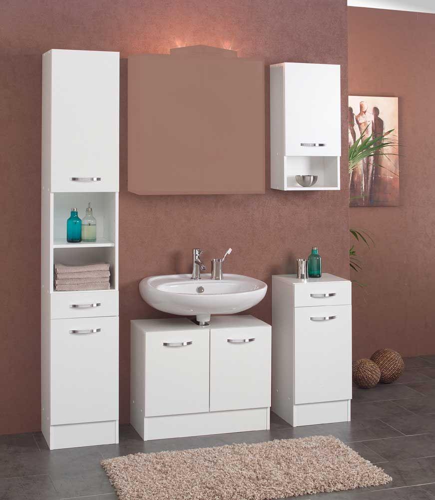 Badezimmer Komplettset Ohne Spiegel Weiß (4 Teilig) Jetzt Bestellen Unter:  Https: