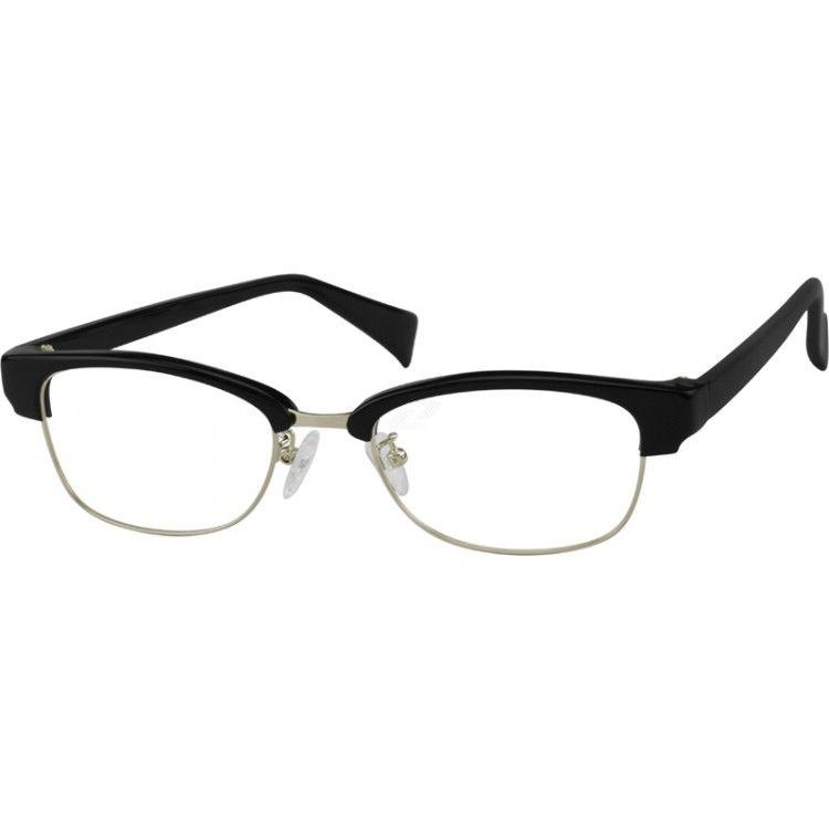 Black Plastic Full-Rim Frame #733621   Zenni Optical Eyeglasses ...