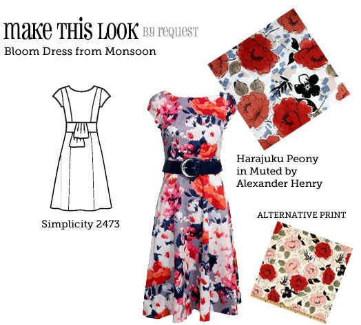 Personally I think that Indochine Harajuku Peony print belongs on a full-skirted 1950's confection of a dress, but I still like what they've picked here