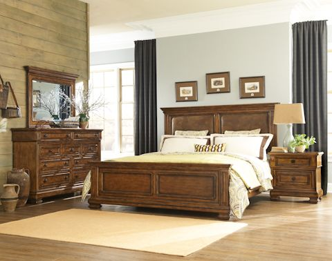 Legacy Classic Furniture Larkspur Larkspur Five Piece Panel Bedroom Set