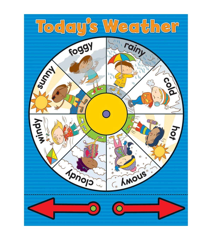 Carson Dellosa Weather Wheel Chart 6pk