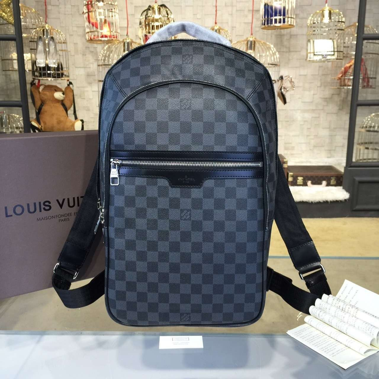 bacae28073f1 Louis Vuitton Michael Backpack Damier Graphite Canvas Fall Winter 2016  Collection N58024 - My Luxe Fashions