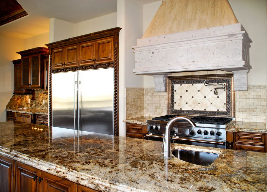 Pretty swirly granite Kitchen Concepts Pinterest Sealing