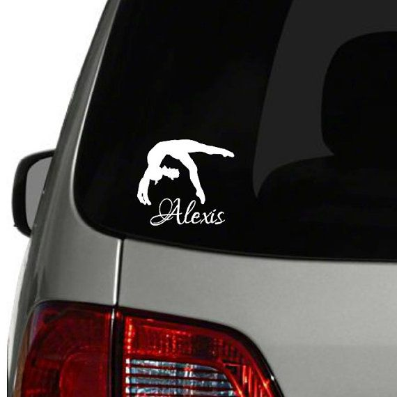 Personalized gymnastics car decal personalized by vinylwritten
