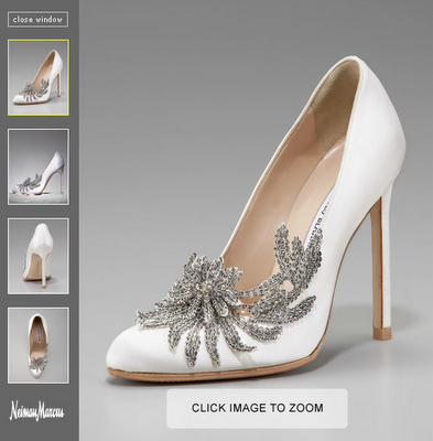 Bella S Wedding Shoes Manolo Blahnik S Swan Embelished Satin