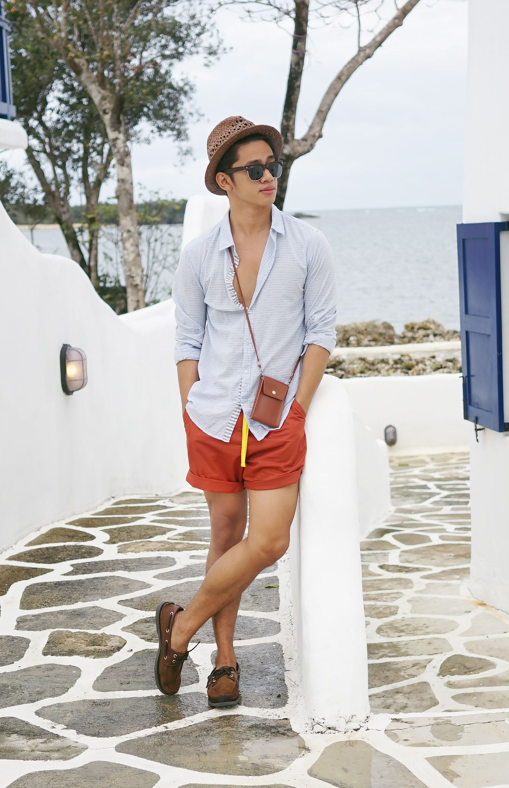 Mykonos Mornings Dg Manila Mens Summer Fashion Beach Summer Outfits Men Mens Fashion Blogger [ 2628 x 1700 Pixel ]