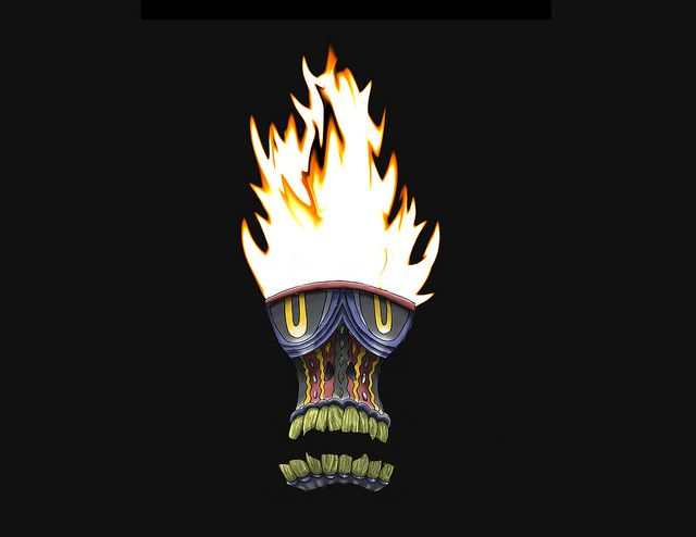 Akurojin-no-hi- Japanese folklore: a ghostly floating flame. If encountered you will fall with a grave illness.