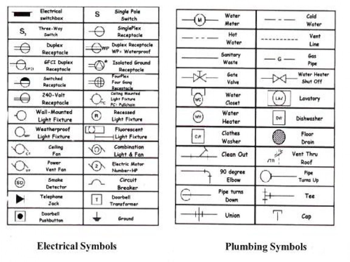 electrical plan legend symbols