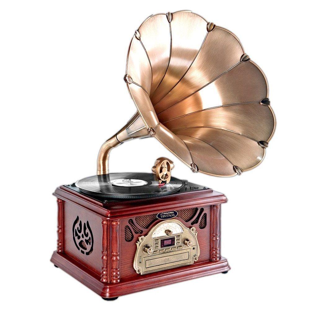 New Ptcdcs32bt Classic Bluetooth Turntable Record Player