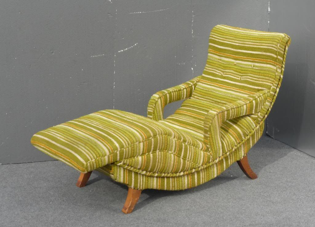 Vintage Recliner Chair Lounger Mid Centurymodern Striped Lime Green Mad Men Era & Vintage Recliner Chair Lounger Mid Centurymodern Striped Lime ... islam-shia.org