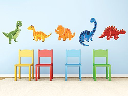 Dinosaur Fabric Wall Decals, Set of 5 Adorable Dinosaurs with T-Rex, Brontosaurus, Triceratops, and More, Reusable and Repositionable Sunny Decals http://www.amazon.com/dp/B00LP5U07C/ref=cm_sw_r_pi_dp_H9fXub1XADP28