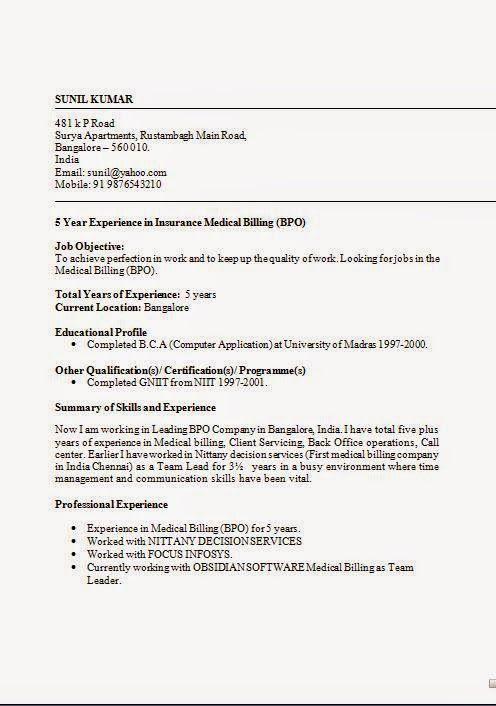 Formats Of Cv Typing Skills Interpersonal Skills Billing Software