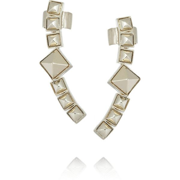 Valentino Studs Arch gold-plated cuff earrings