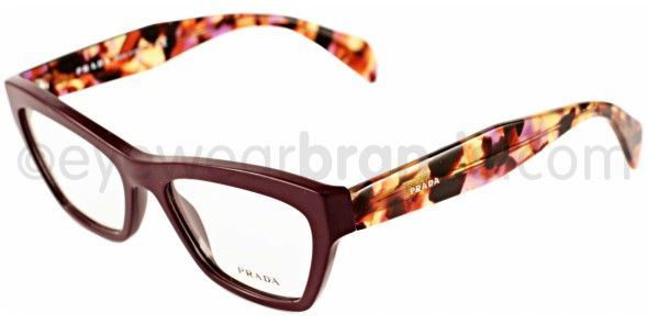 Prada PR 14QV Prada PR14QV ROM101 Plum/Tortoise Designer Glasses From Eyewearbrands