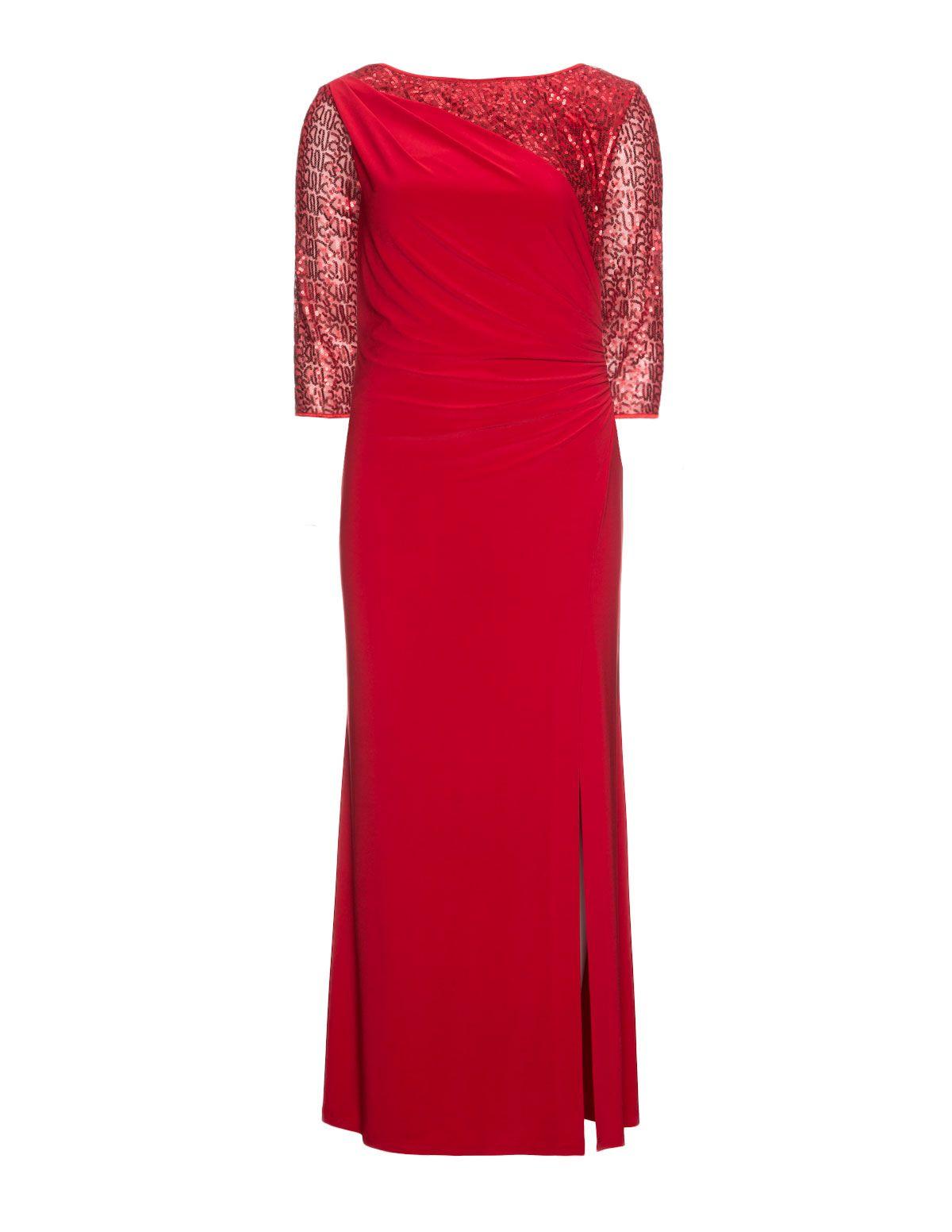 Weise - Maxikleid mit Paillettenzierde in Rot | Abendkleidung ...